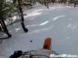 Dirtbiker Almost Drives Into A Mine Shaft