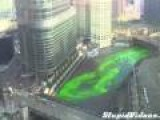 Dyeing Chicago River For St Patrick's Day