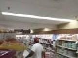 Fat Guy Dances In Store