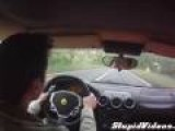 Ferrari Test Drive Close Call