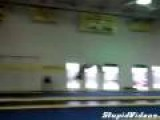 Gymnast Gets Crazy Air While Flipping