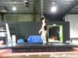 Gymnast Toe Hang
