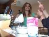 Girl Gets Hair Stuck In Cake Mixer