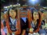 Guy Emotionless On Sling Shot Ride