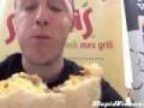 Guy Eats World's Hottest Burrito