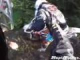 Girl Gets Dirt Bike Stuck In Mud