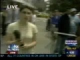 Guy Steals Reporter's Mic