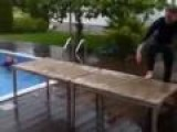 Homemade Diving Board Fail