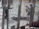 Hockey Player Knocked Out Cold
