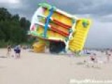 Inflatable Slide Takes Off