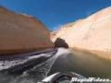 Jet Ski Through Canyon