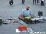 Kid Joins Street Drummer