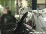 Korean Man Destroys Own Mercedes