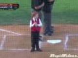 Kid Battles Through Hiccups To Sing National Anthem