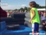 Kid Repeatedly Fails Obstacle