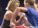 Lady Arm Wrestler Is Intense