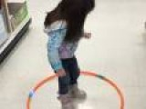 Little Girl Fails At Hula Hoop