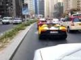 Lamborghini Bursts Into Flames In Dubai
