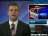 Live TV News Report Interrupted For Bank Robber
