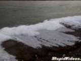 Lake Ice Comes Ashore