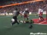 Lacrosse Player Takes Ball To Face