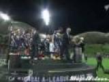 Man Falls At Soccer Award Ceremony