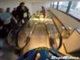 Mountain Bike Obstacle Race Inside Mall