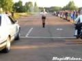 Motorcyclist Embarrasses Himself In Drag Race Against Car