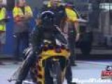 Motorcycle Drag Race On Foot