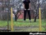 Outdoor Gymnast Fail