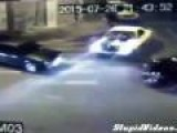 Odd Road Rage Incident Caught On Security Cam