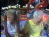 Old Couple Rides Slingshot Ride