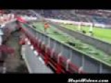 Obnoxious Soccer Fan Escapes Into Crowd