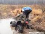 Riding A Quad Through Mud