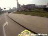 Riding Dirtbike Through Mall