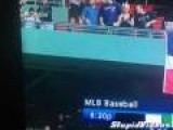 Red Sox Fan Vomits From Upper Deck