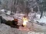 Russian Lumberjacks Entertain Themselves