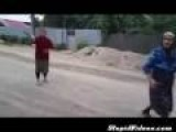 Romanian Grandmother Has Great Throwing Arm