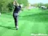 Spectator Hit During Golf Game