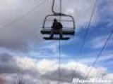 Stuck On Ski Lift