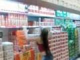 Short Woman Can't Reach Shelf