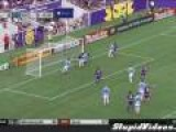 Soccer Goalie Knocks Self Out