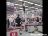 Supermarket Climb Fail