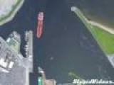 Satellite Timelapse Of Ship Entering Port