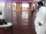 Saudi Man Has Trouble Standing On Wet Floor