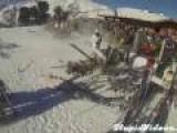 Skier Crashes Hard