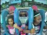 Two Girls Freak Out On Sligshot Ride