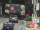 Truck Hits Low Bridge