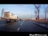 Truck Driver Makes Impressive Maneuver To Avoid Accident