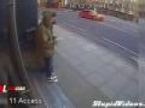 Talented Phone Thief On Scooter